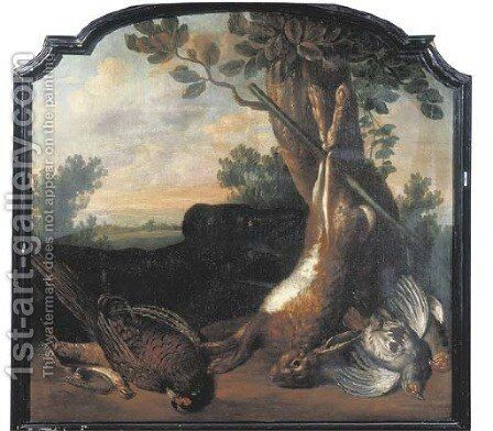 A hunting still life an ortolan by (after) Jan Weenix - Reproduction Oil Painting