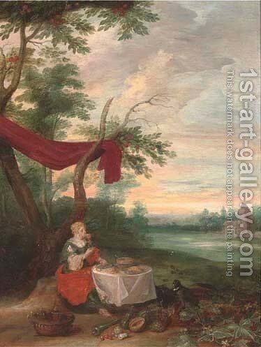 An Allegory of Peace 2 by (after) Jan, The Younger Brueghel - Reproduction Oil Painting