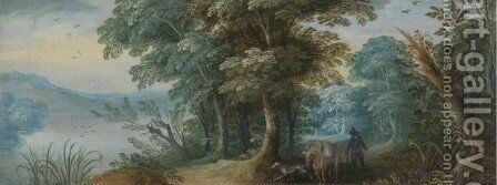 Wooded Landscape by (after) Jasper Van Der Laanen - Reproduction Oil Painting