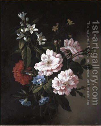 Still Life Of A Bouquet Of Flowers by (after) Jean-Baptiste Monnoyer - Reproduction Oil Painting
