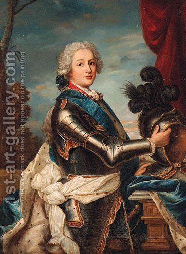 Portrait of a military commander by (after) Jean-Marc Nattier - Reproduction Oil Painting