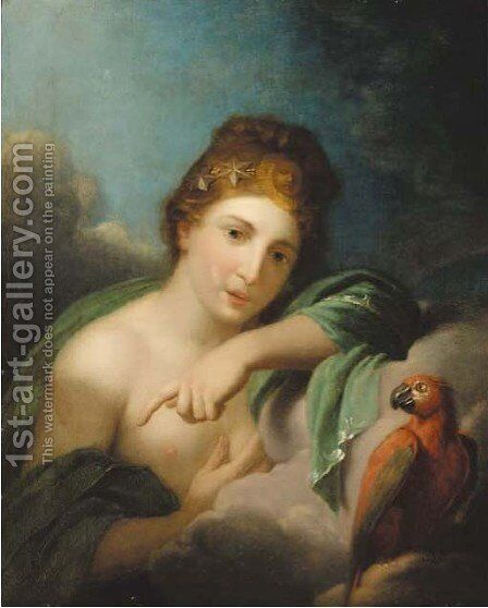 A nymph by (after) Johann Heinrich The Younger Tischbein - Reproduction Oil Painting