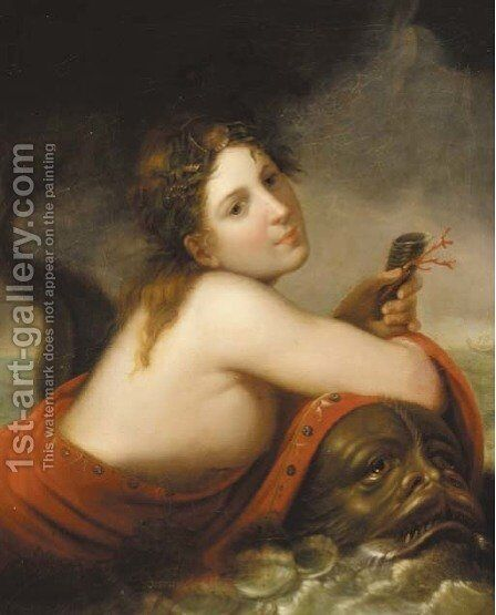 A sea nymph by (after) Johann Heinrich The Younger Tischbein - Reproduction Oil Painting