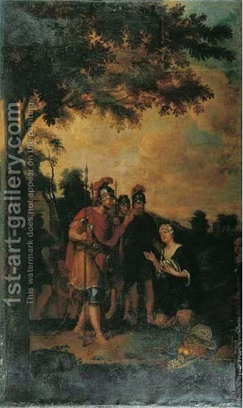 David and Abigail by (after) Johann Kaspar Sing - Reproduction Oil Painting