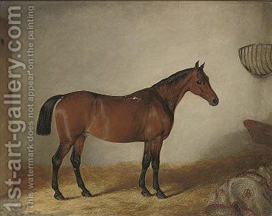 A favourite hunter by (after) John Barwick - Reproduction Oil Painting