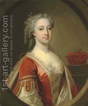Portrait of a Countess by (after) John Theodore Heins - Reproduction Oil Painting