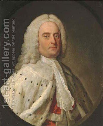 Portrait of an Earl, traditionally identified as the Earl of Orford by (after) John Theodore Heins - Reproduction Oil Painting