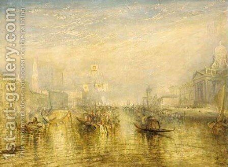 Venice, from the porch of Madonna della Salute by (after) Joseph Mallord William Turner - Reproduction Oil Painting