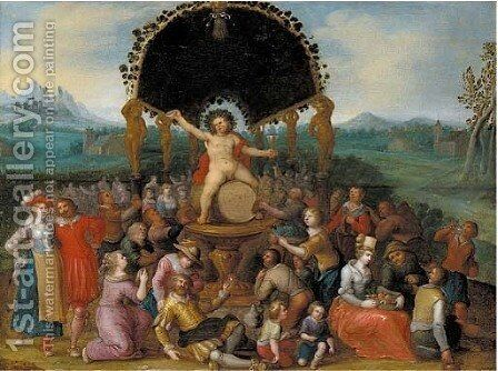 The Worship of Bacchus by (after) Louis De Caullery - Reproduction Oil Painting