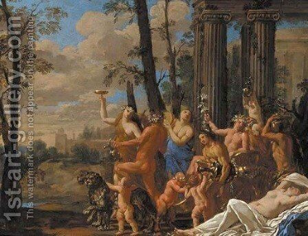 The Triumph of Bacchus by (after) Louis Dorigny - Reproduction Oil Painting