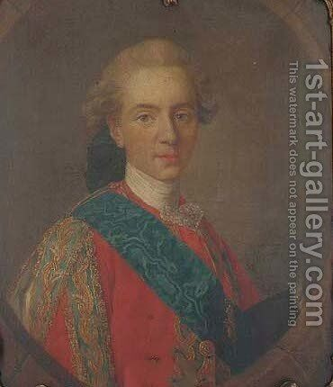 Portrait of the duc de Berry, later King Louis XVI of France (1754-1793) by (after) Louis Michel Van Loo - Reproduction Oil Painting