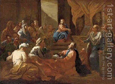 Christ among the Doctors by (after) Luca Giordano - Reproduction Oil Painting