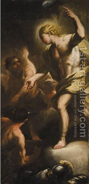 Apollo In Vulcan's Forge by (after) Luca Giordano - Reproduction Oil Painting