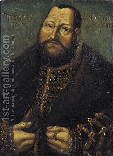 Portrait Of A Gentleman by (after) Lucas The Elder Cranach - Reproduction Oil Painting