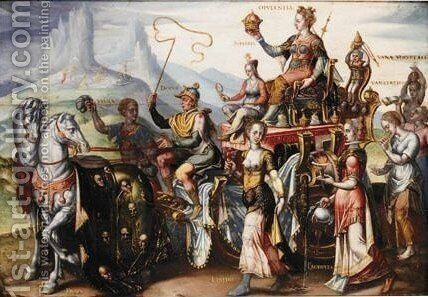 The Triumph Of Opluence by (after) Maerten Van Heemskerck - Reproduction Oil Painting