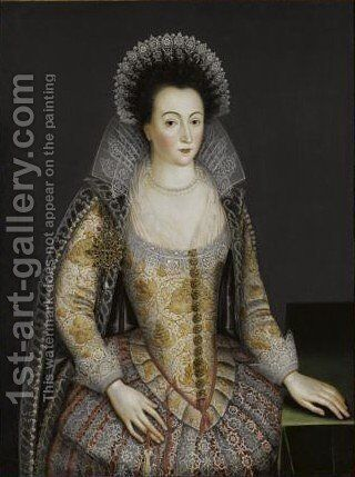 Portrait Of A Lady, Probably Alice Spencer, Countess Of Derby by (after) Marcus The Younger Gheeraerts - Reproduction Oil Painting