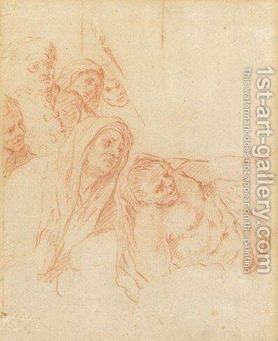 The Raising Of Lazarus by (after) Mattia Preti - Reproduction Oil Painting
