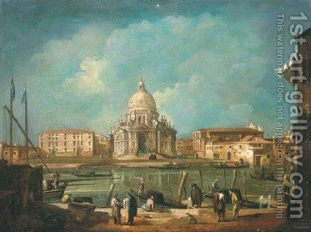 Santa Maria della Salute from the Grand Canal, Venice by (after) Michele Marieschi - Reproduction Oil Painting