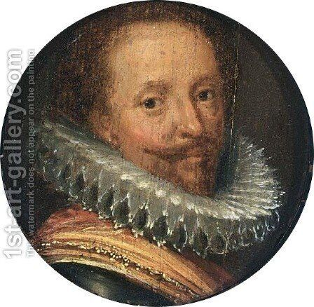 A Portrait Of Frederik Hendrik (1584-1647), Prince Of Orange, Bust Length by (after) Michiel Jansz. Van Miereveld - Reproduction Oil Painting