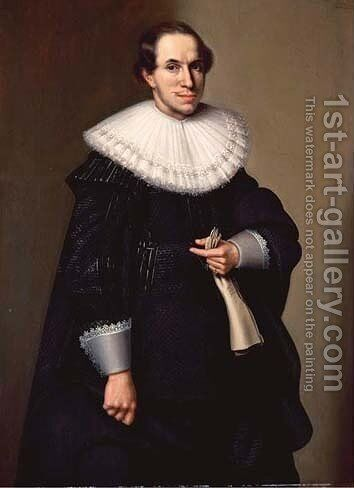 Portrait of a gentleman by (after) Nicolaes Eliasz. Pickenoy - Reproduction Oil Painting