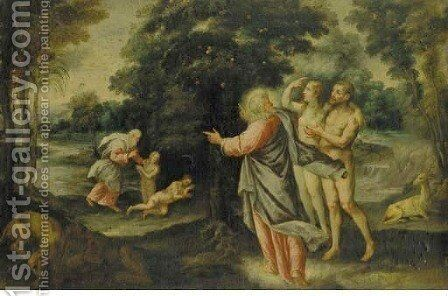 God with Adam and Eve in the Garden of Eden by (after) Pedro Orrente - Reproduction Oil Painting