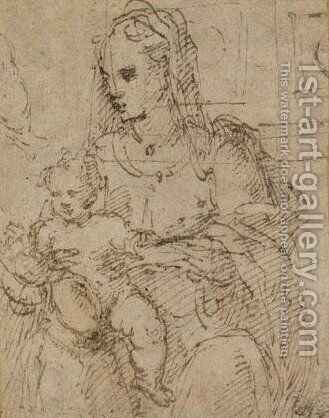 Madonna And Child by (after) Perino Del Vaga (Pietro Bonaccors) - Reproduction Oil Painting