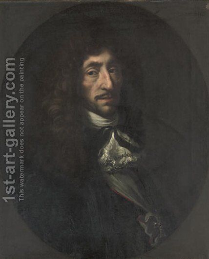 Portrait of Oluf Rosenkrantz by (after) Philippe De Champagne - Reproduction Oil Painting