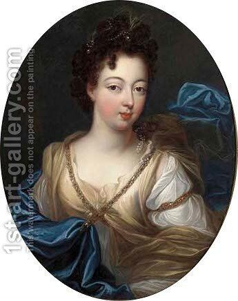 Portrait of Charlotte d'Orleans, Duchess of Modena (1700-1761) by (after) Pierre Gobert - Reproduction Oil Painting