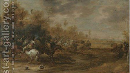Cavalry Battle by (after) Pieter Meulener - Reproduction Oil Painting