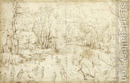 Winter Landscape by (after) Pieter The Elder Bruegel - Reproduction Oil Painting