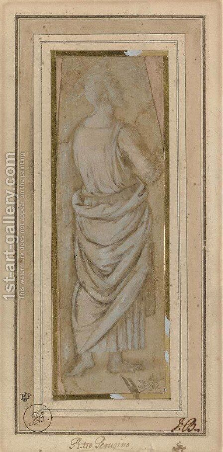 A standing apostle turned to the right by (after) Pietro Vannucci Perugino - Reproduction Oil Painting