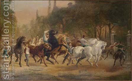 The Horse fair by (after) Rosa Bonheur - Reproduction Oil Painting