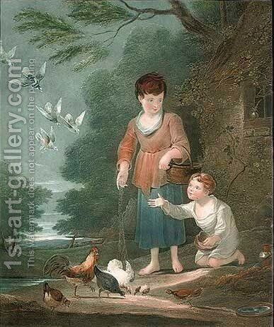 Cottage Cares by (after) Sir Francis Bourgeois - Reproduction Oil Painting