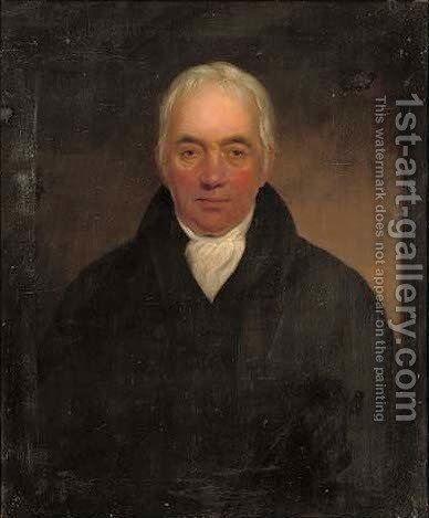 Portrait of John Fariner Esq. of Barton by (after) Sir Henry Raeburn - Reproduction Oil Painting