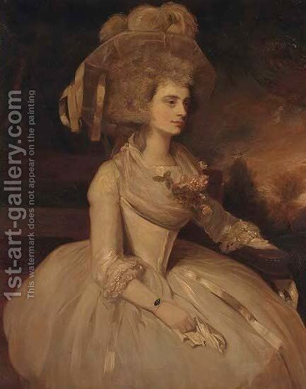 Portrait of Selina, Lady Skipwith by (after) Sir Joshua Reynolds - Reproduction Oil Painting