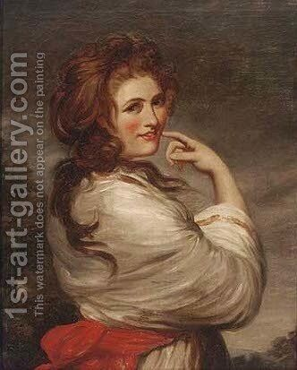 Portrait of Lady Hamilton as a Bacchante by (after) Sir Joshua Reynolds - Reproduction Oil Painting