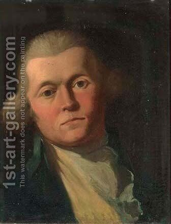 Portrait of a gentleman 3 by (after) Sir Joshua Reynolds - Reproduction Oil Painting