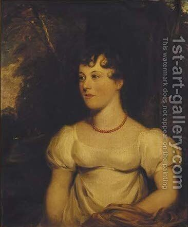 Portrait of Frances Arkwright (1796-1863) by (after) Sir Martin Archer Shee - Reproduction Oil Painting
