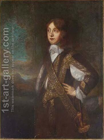 Portrait of James, Duke of York (1633-1701) by (after) Sir Peter Lely - Reproduction Oil Painting