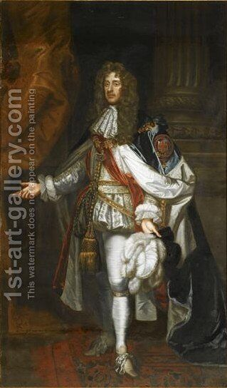 Portrait Of James II And VII (1633-1701) King Of England, Scotland And Ireland by (after) Sir Peter Lely - Reproduction Oil Painting