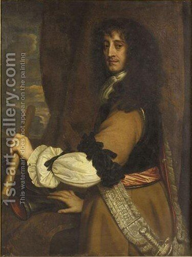 Portrait Von Prinz Rupert Vom Rhein (1619-1682) by (after) Sir Peter Lely - Reproduction Oil Painting