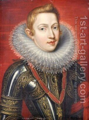 A Portraits Of Phillip III Of Spain by (after) Sir Peter Paul Rubens - Reproduction Oil Painting