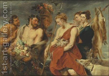 Diana's Return From The Hunt by (after) Sir Peter Paul Rubens - Reproduction Oil Painting