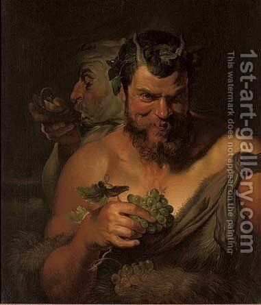 A homage to the grape by (after) Sir Peter Paul Rubens - Reproduction Oil Painting