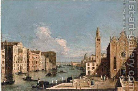 The Grand Canal, Venice by (after) The Master Of The Langmatt Foundation View Domenichini - Reproduction Oil Painting