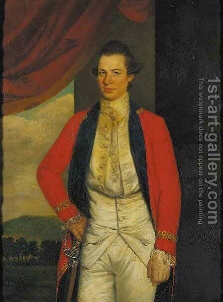 Portrait of Colonel Peter MacGregor by (after) Thomas Hickey - Reproduction Oil Painting