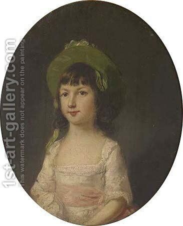 Portrait of Catherine Humbertson by (after) Thomas Hickey - Reproduction Oil Painting