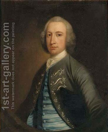 Portrait Of Edward Wilson, Of Dallam Tower by (after) Thomas Hudson - Reproduction Oil Painting