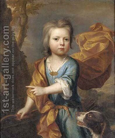 Portrait of a young boy by (after) Thomas Murray - Reproduction Oil Painting