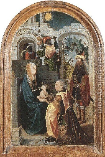 The Adoration of the Magi by (after) Tot Sint Jans Geertgen - Reproduction Oil Painting